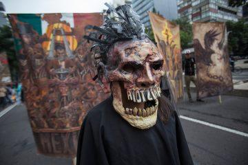 Una de las protestas en solidaridad con Ayotzinapa. Foto: Alejandro Saldívar