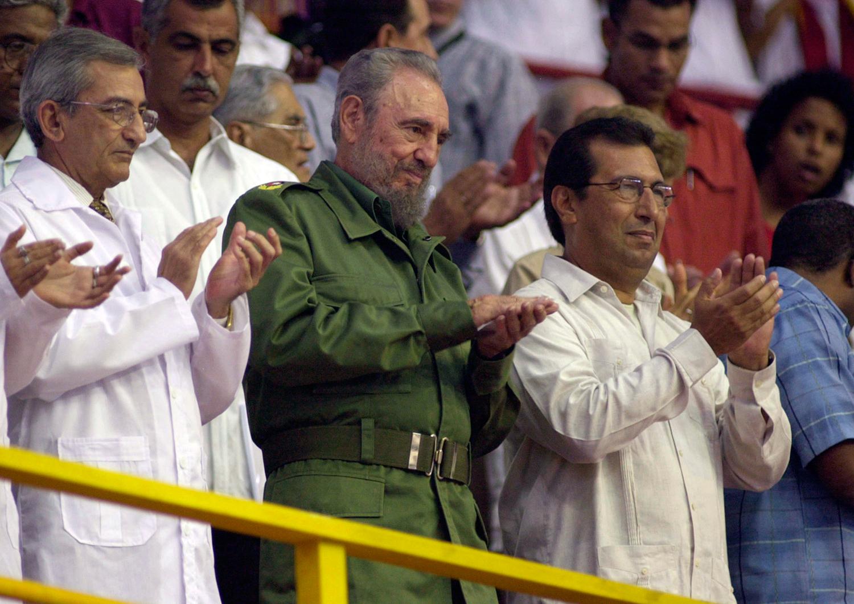 Fidel Castro y Adán Chávez en un encuentro en septiembre de 2005. Foto: Zoila Amelia