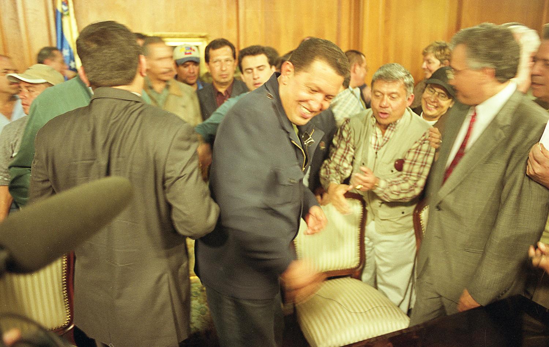 Hugo Chávez Frías, a su regreso del