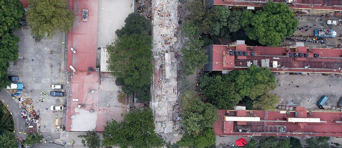 Multifamiliar Tlalpan. Los escombros del edificio C1. 9 muertos. Foto: Alejandro Saldívar