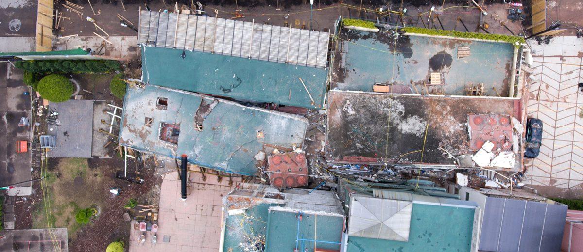 Rancho Tamboreo 11. Los escombros del colegio Enrique Rébsamen. 26 muertos. Foto: Alejandro Saldívar