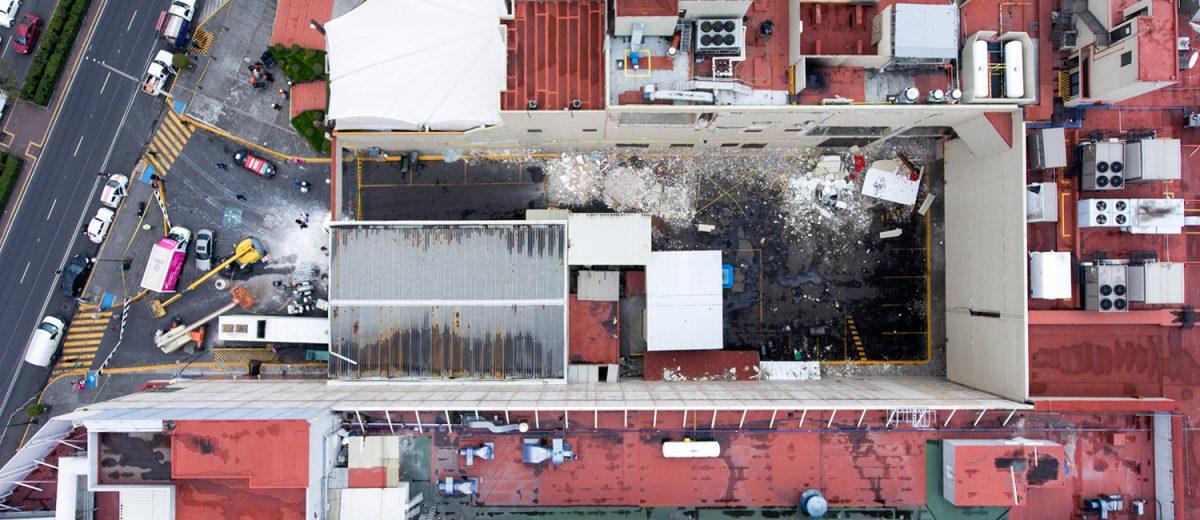 Centro comercial Galerías Coapa. 1 muerto. Foto: Alejandro Saldívar