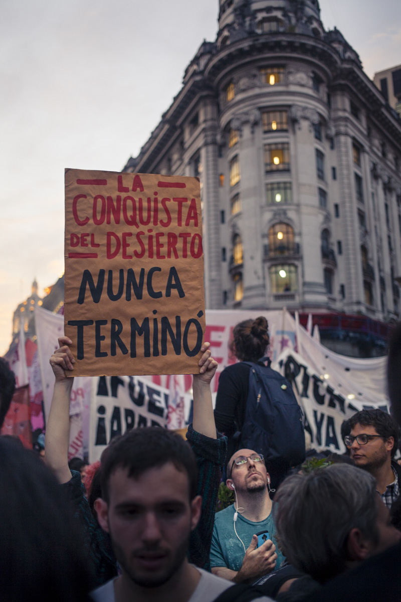 Protest in the Plaza de Mayo in Buenos Aires (Pablo Linietsky)