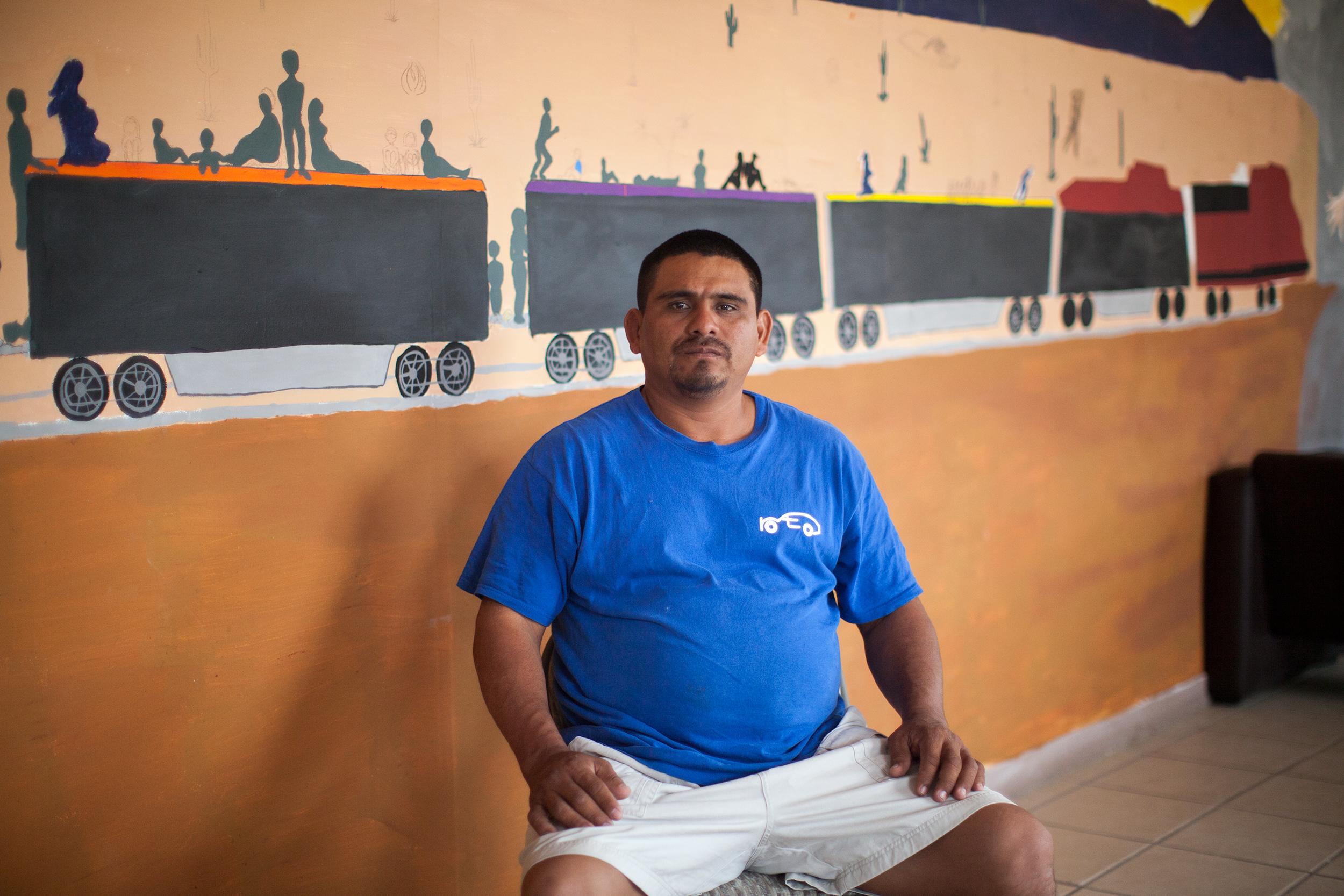 Sergio Girón, salvadoreño de 36 años. Foto: Alejandro Saldívar