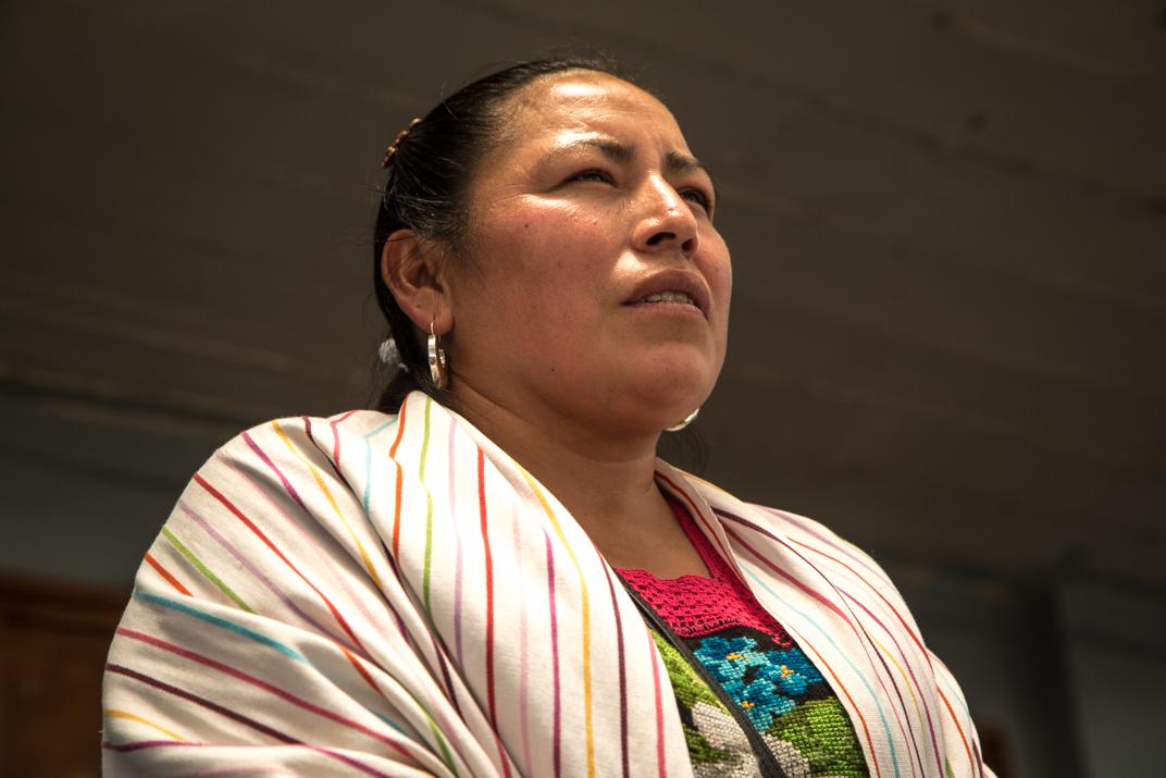 Patricia Hernández Pulido, nueva K'eri del barrio segundo Kétsicua. Foto: Heriberto Paredes