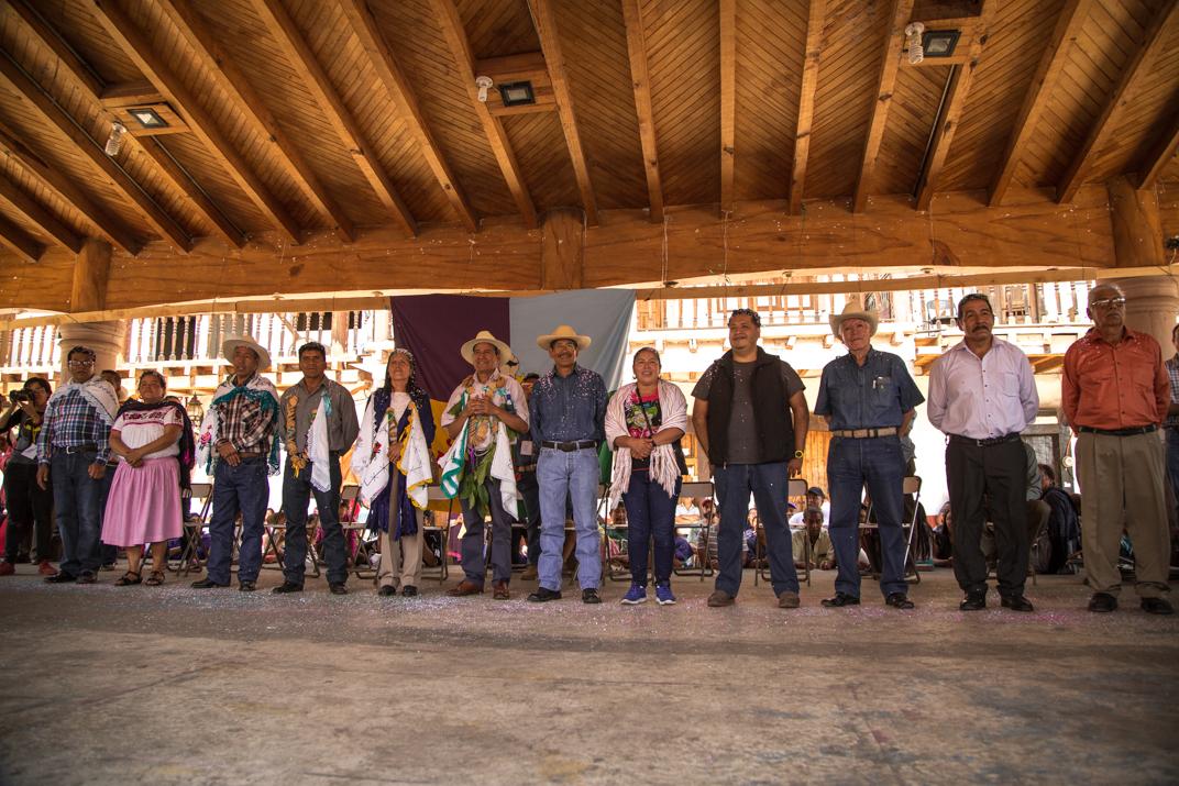 El Concejo Mayor del Gobierno Comunal de Cherán. Foto: Heriberto Paredes