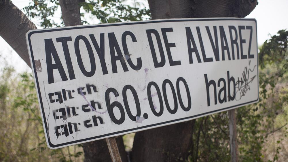 La entrada de Atoyac, Guerrero. Foto: Alejandro Saldívar