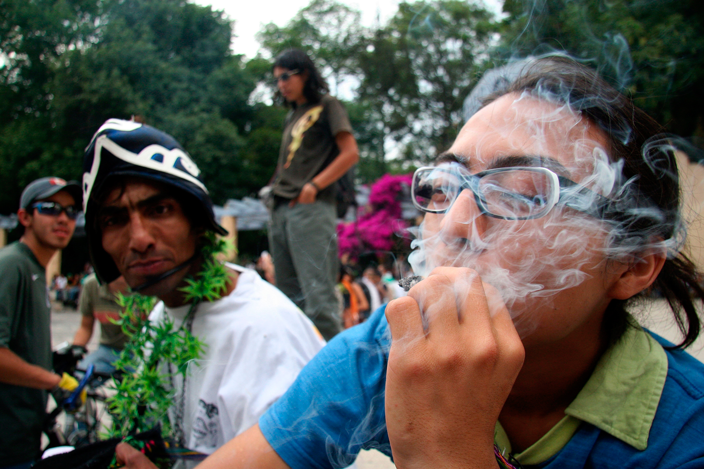 Una protesta a favor de la legalización de la marihuana en la Ciudad de México. Foto: Alejandro Saldívar