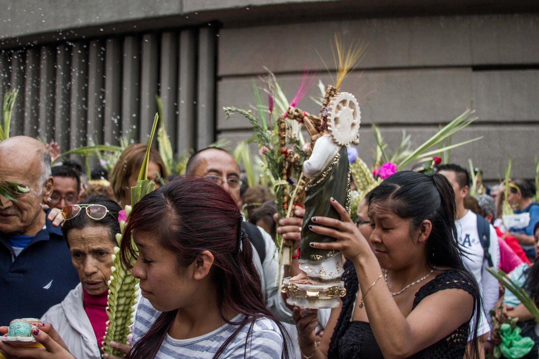 Domingo de Ramos en la Basílica. Foto: Dahian Cifuentes