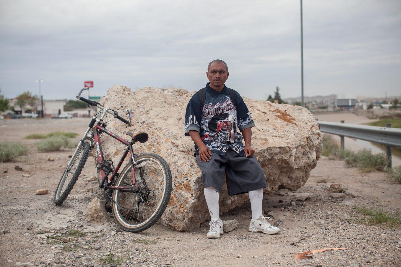 Alberto, habitante de Juárez. Foto: Alejandro Saldívar