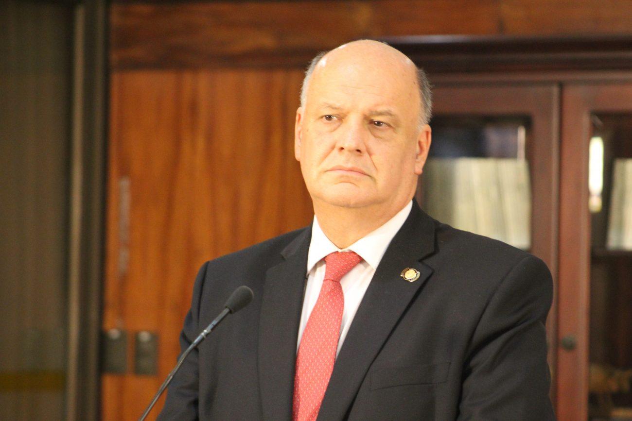 Rodolfo Piza, ministro de la Presidencia, a quien todos ven como la mano derecha de Alvarado.