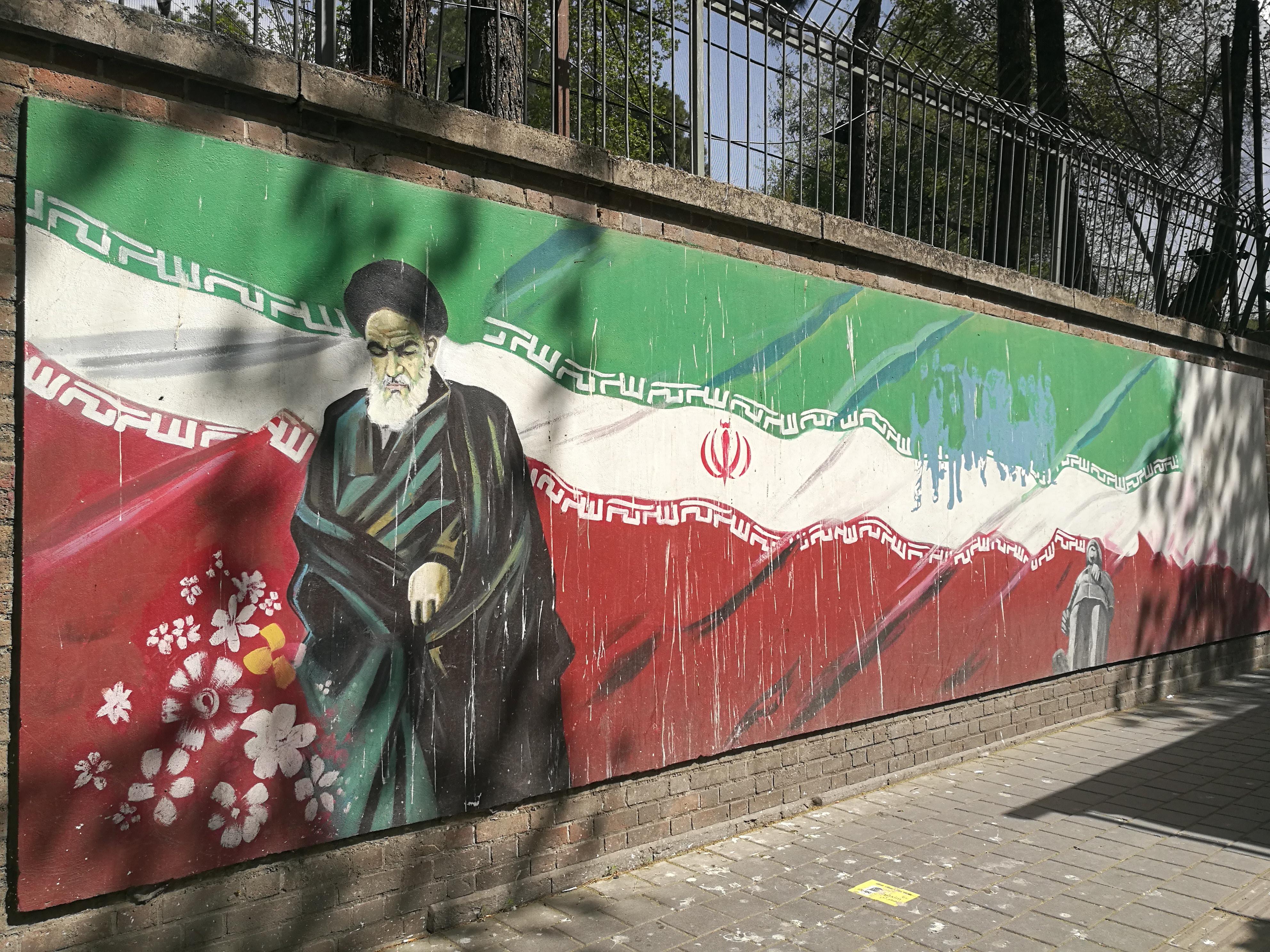 Mural en Teherán. Foto: María Constanza Cota