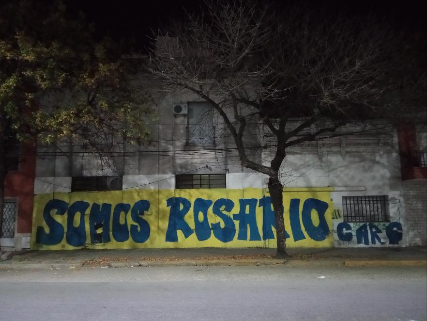 Pintada de barrio Canalla.