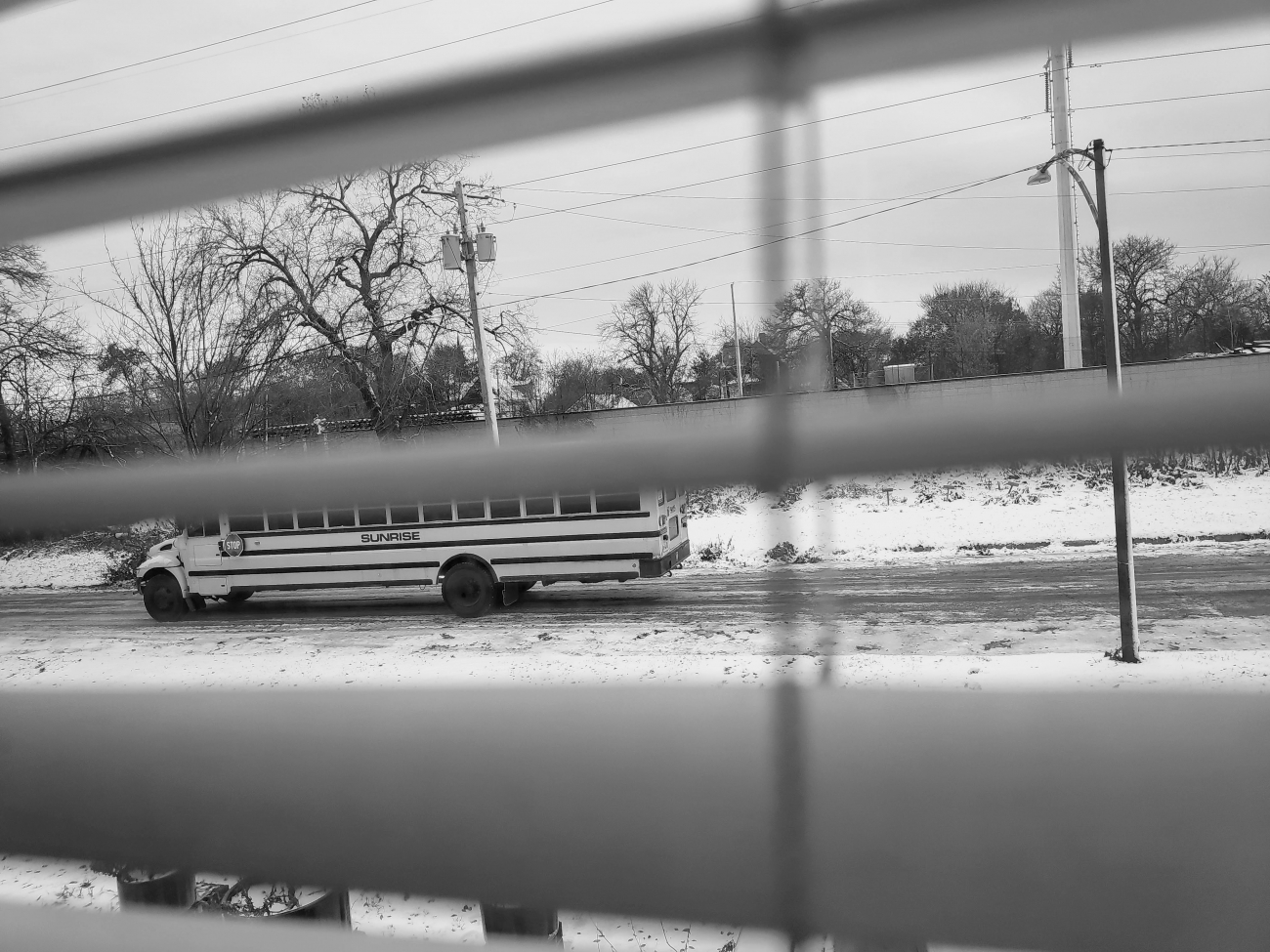 Un bus escolar recorre Englewood