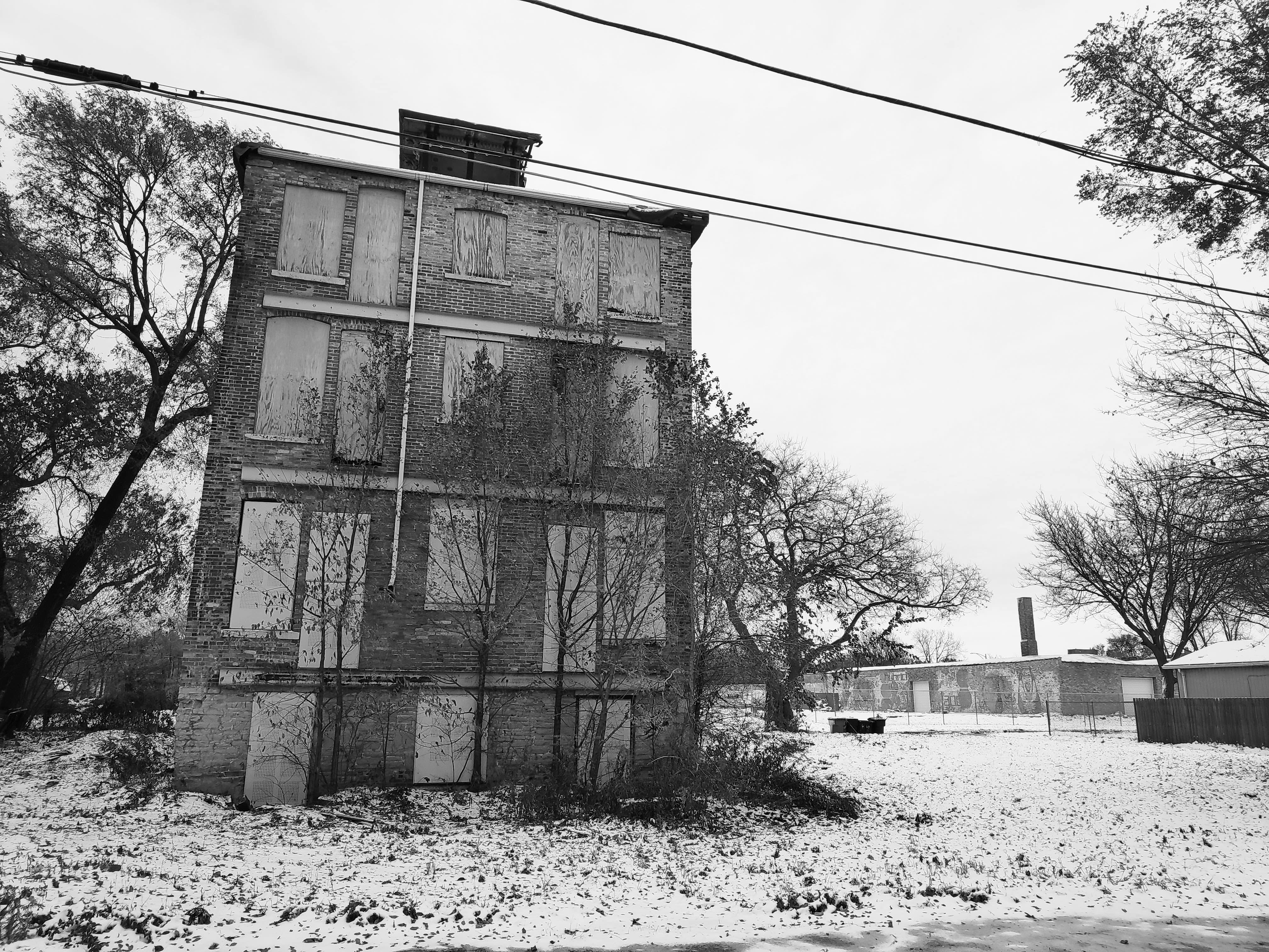 Un terreno baldío abandonado en Englewood, sur de Chicago.