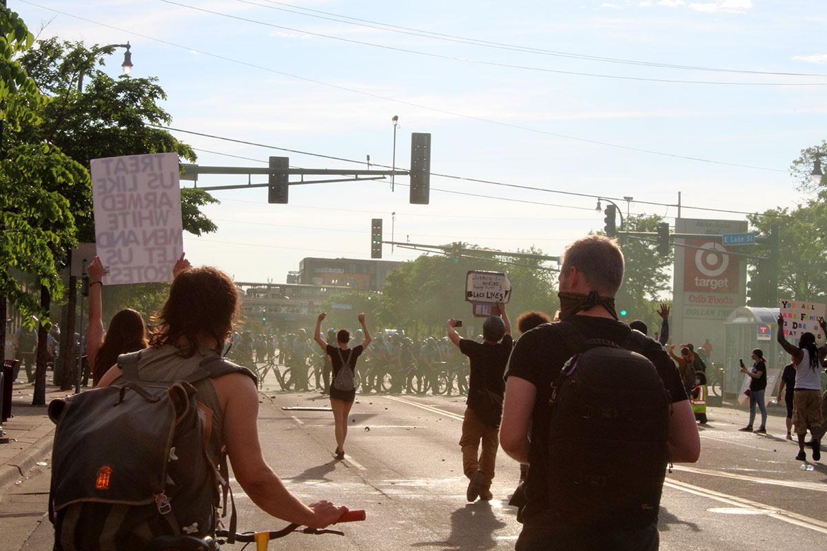 Una de las protestas por el asesinato de Floyd. Foto: Felipe Herrera