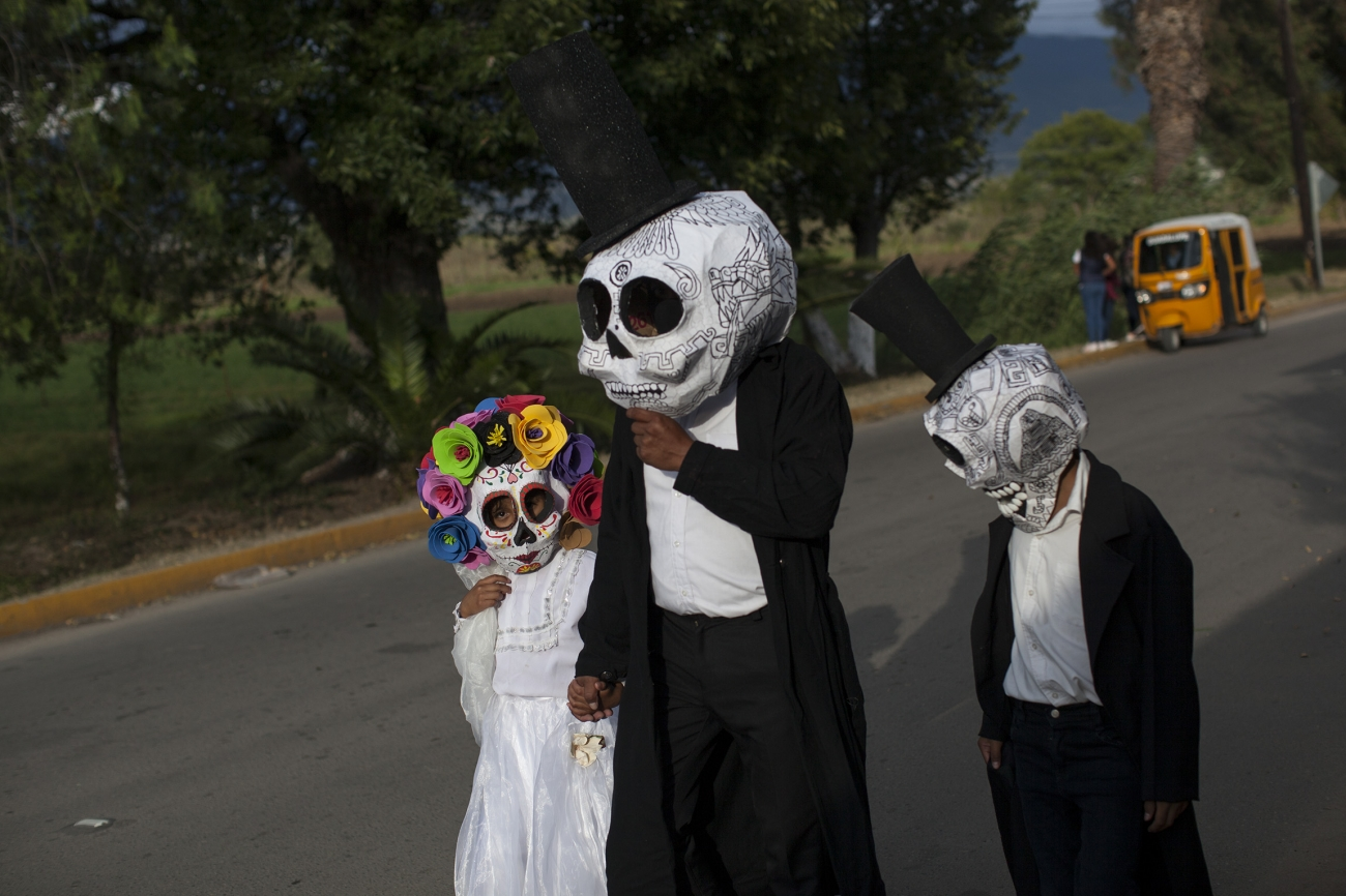 Muerteada en Etla, Oaxaca, al sur de México. Foto: Alejandro Saldívar