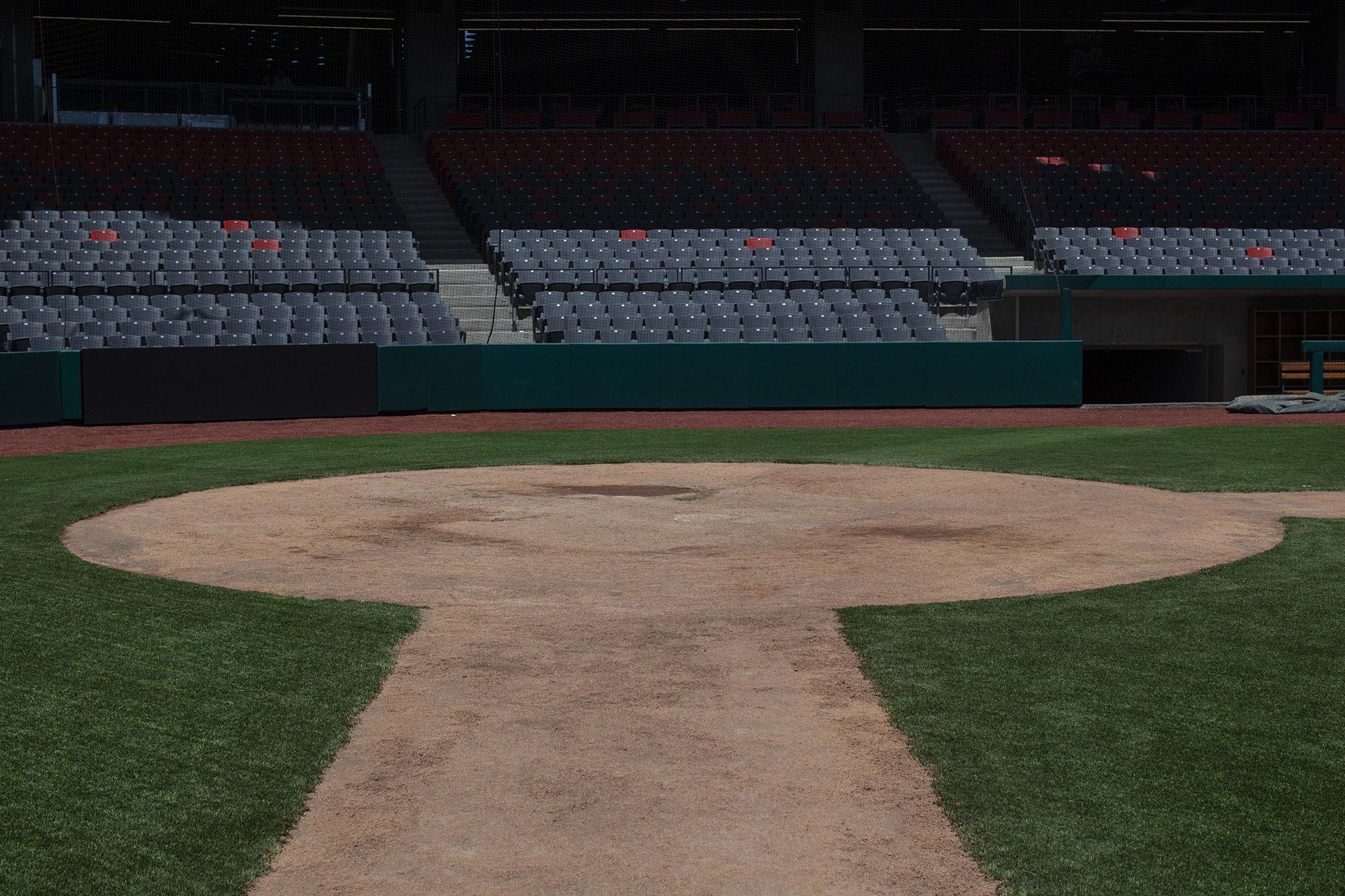El estadio de los Diablos Rojos, en la CDMX.