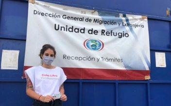 La periodista cubana Karla Pérez González solicita refugio en Costa Rica después de que Cuba le impidiera entrar al país. Foto: Twitter.