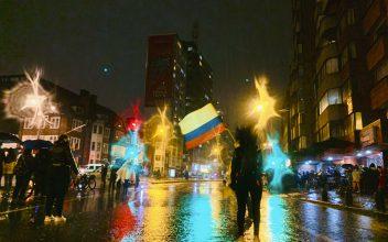 La movilización contra Duque en Bogotá. Foto: Dahian Cifuentes