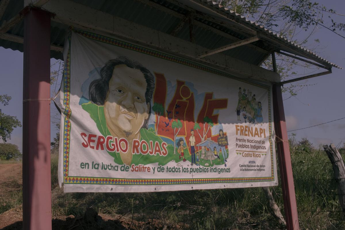 Memorial de Sergio Rojas, del pueblo Bribri de Salitre. Foto: