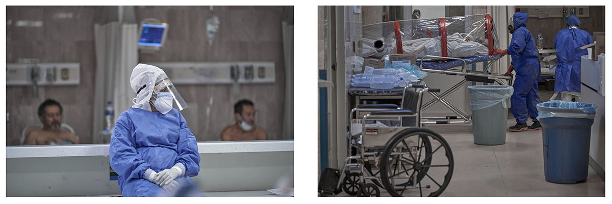 El ingreso de un paciente con la enfermedad. Fotos: Iván Macías