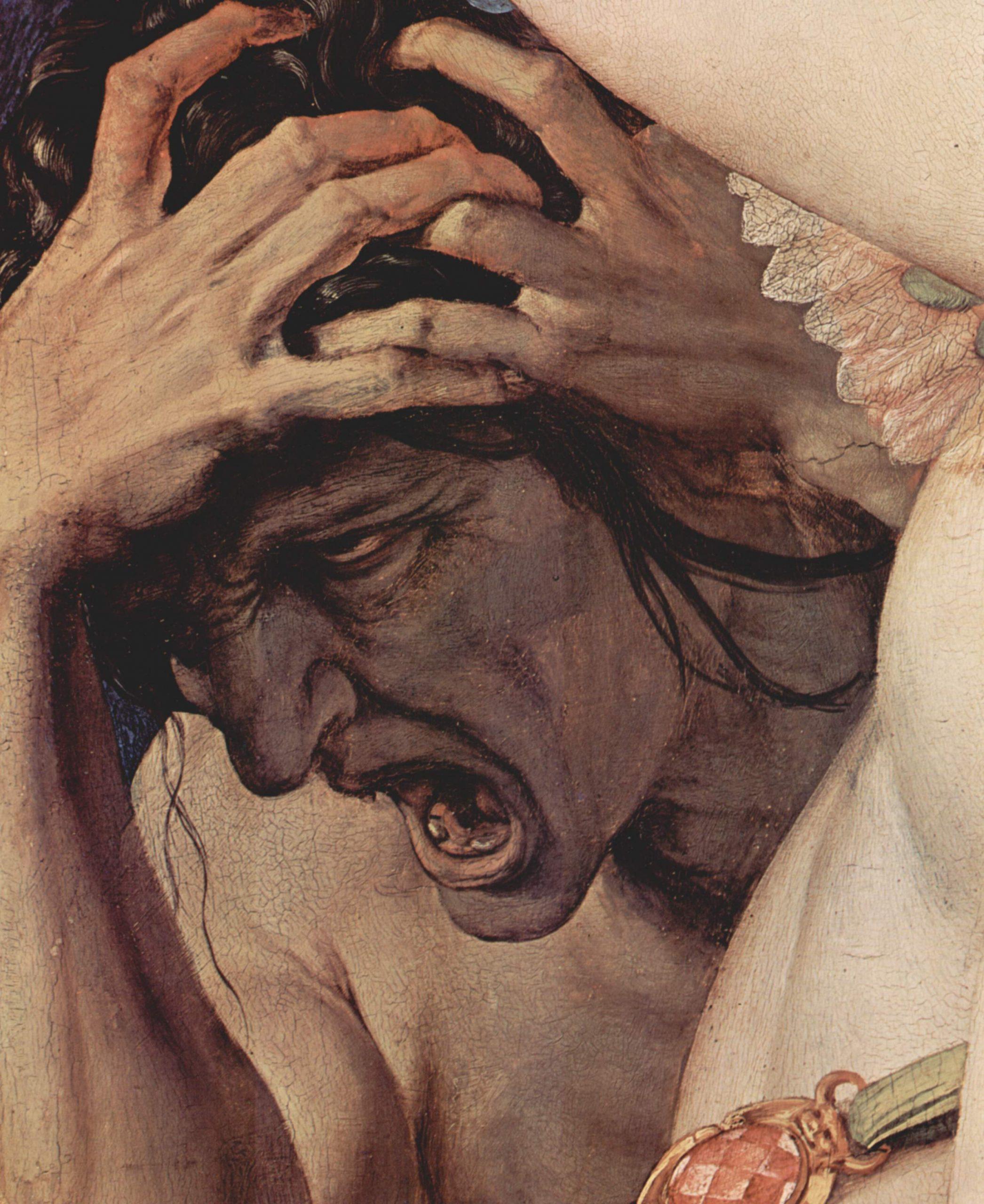 """Detalle de """"Alegoría con Venus y Cupido"""" (1540-1545) de Agnolo Bronzino."""