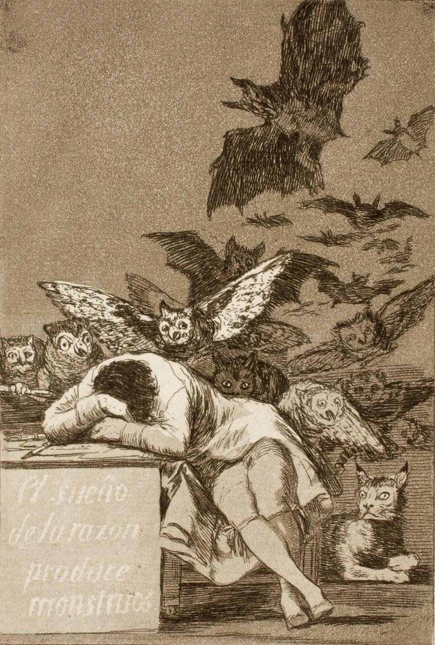 """""""El sueño de la razón produce monstruos"""" (1797-1798) de Francisco de Goya"""